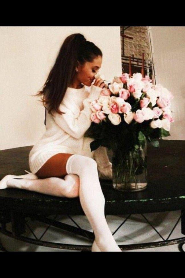 Ariana Grande Wears Crocs With Socks - PAPER