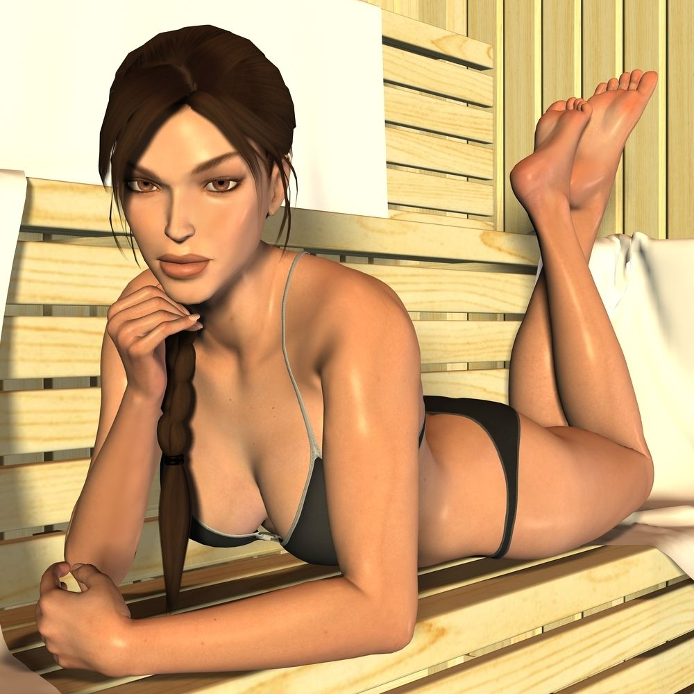 The sexy lara croft has found herself in another sexual adventure 10