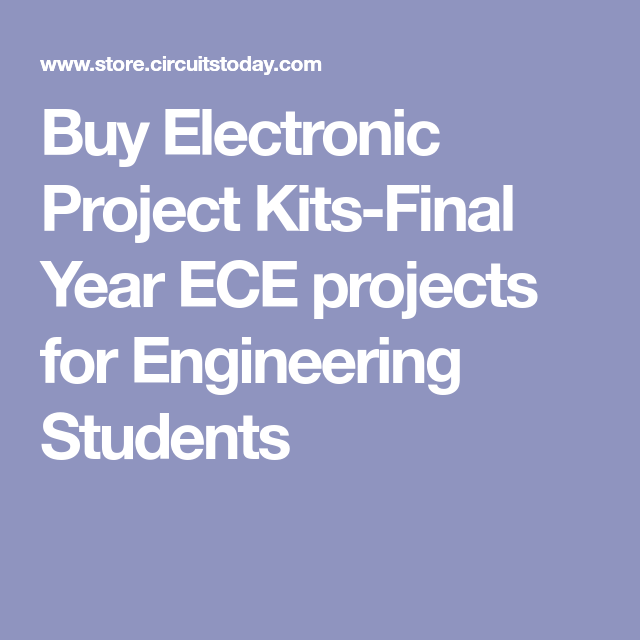 Buy Electronic Project Kits-Final Year ECE projects for Engineering ...