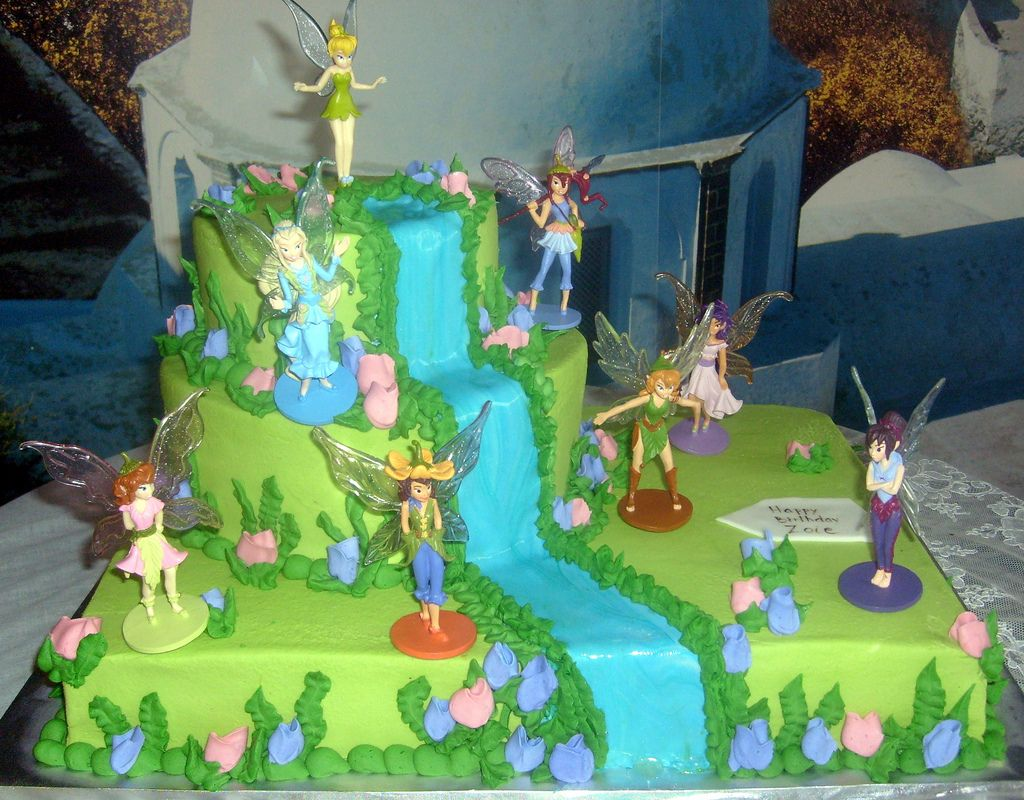 Tinkerbell cake Birthday cake ideas Pinterest Tinkerbell