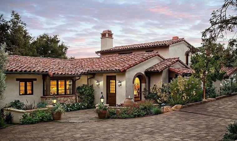 Dise o de casa rural mejicano estilo casas de campo - Casas de campo bonitas ...