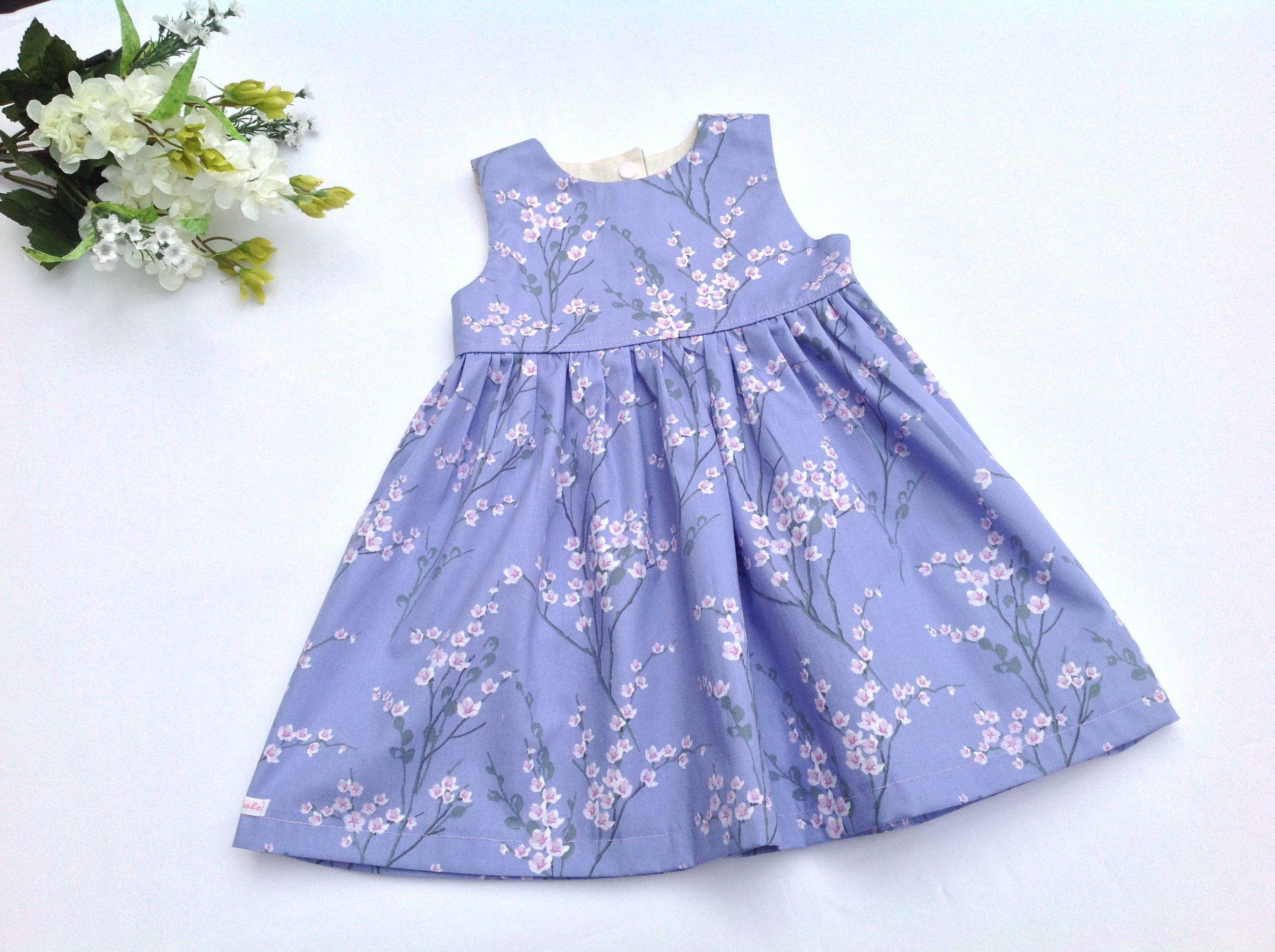 Girls Japanese blossom dress Spring dress summer dress baby girl