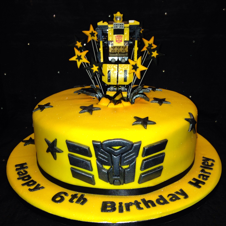 Bumblebee Transformer Cake Paxtons Bday Ideas Cupcake