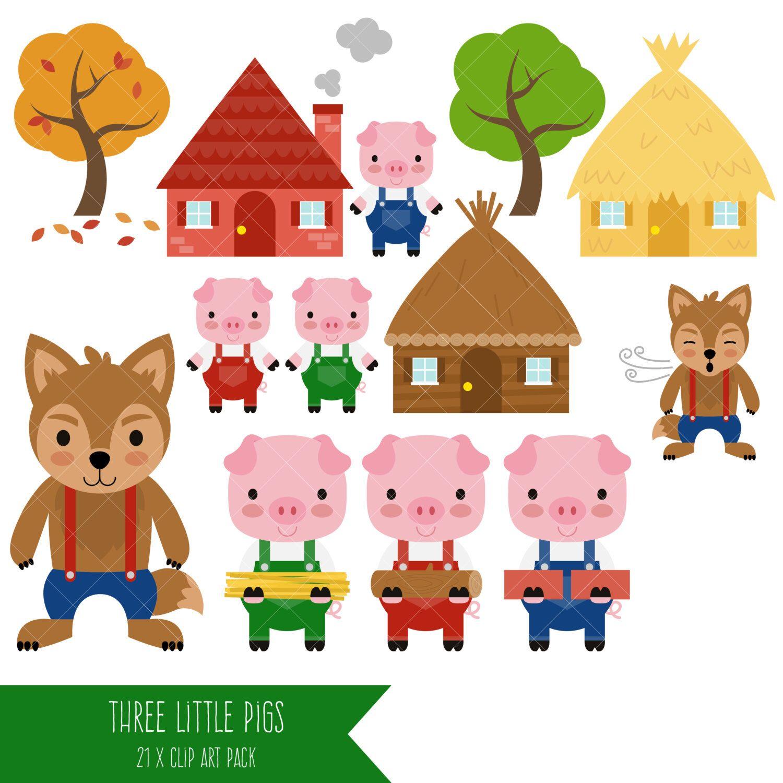 Three Little Pigs Clipart Big Bad Wolf Clip Art Com