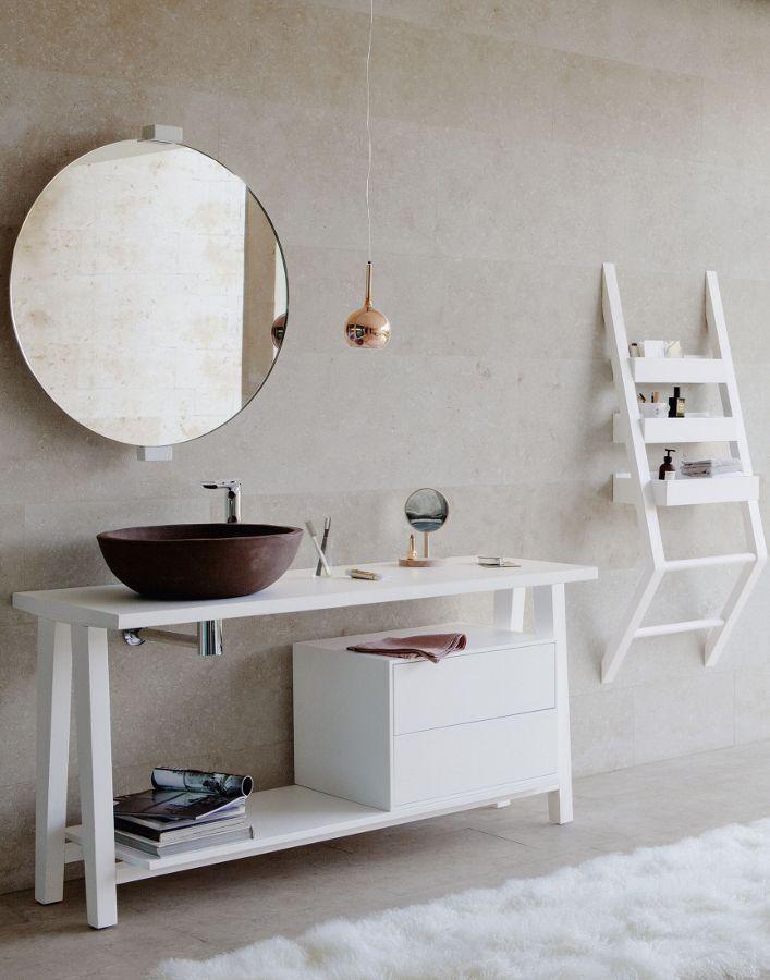 Consolle e top per lavabo da appoggiobagni dal mondo un for Consolle bagno
