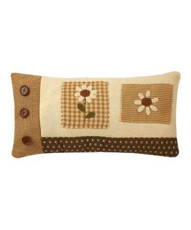 Take a look at this Smell the Daisies Pillow by Collins on #zulily today!