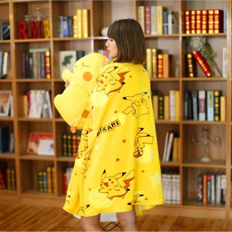 Cute pikachu pillow and blanket pn0638 pikachu pillow