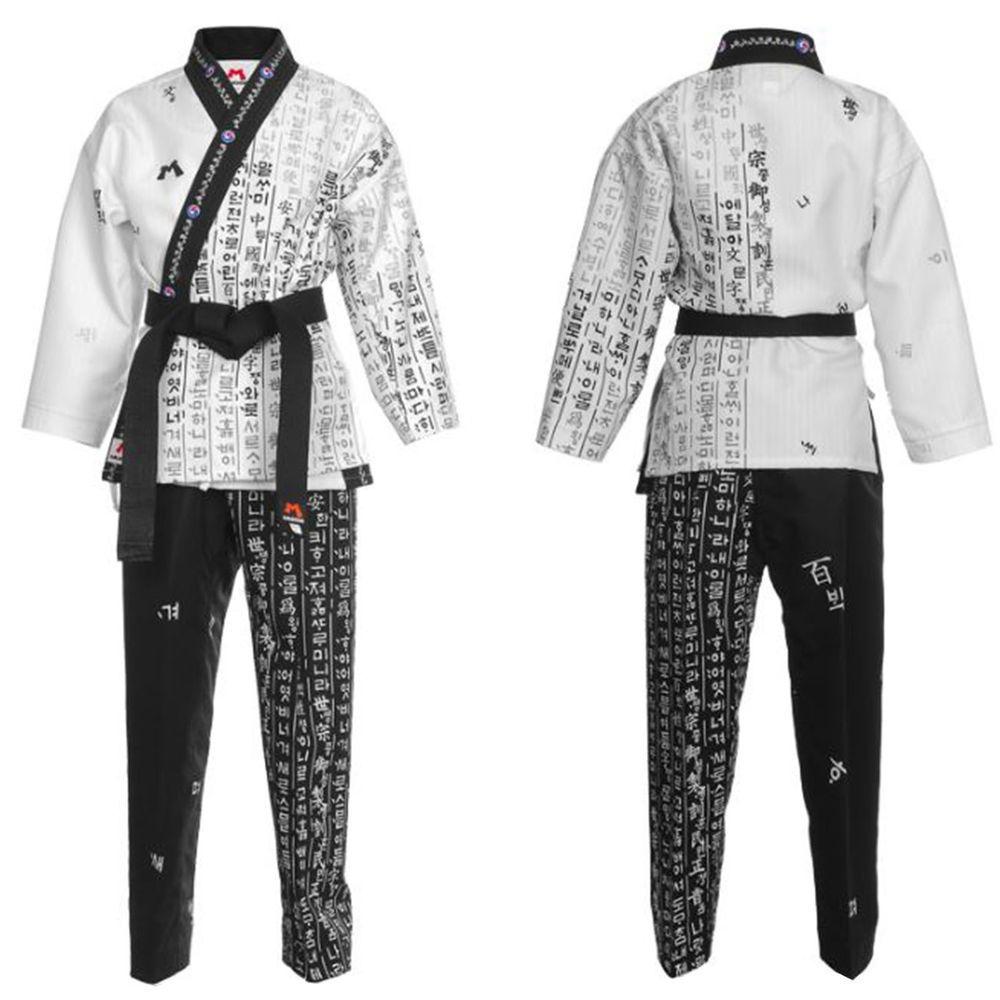 Taekwondo Hangul Wrap Uniforms Open Dobok TKD Suits Dobok