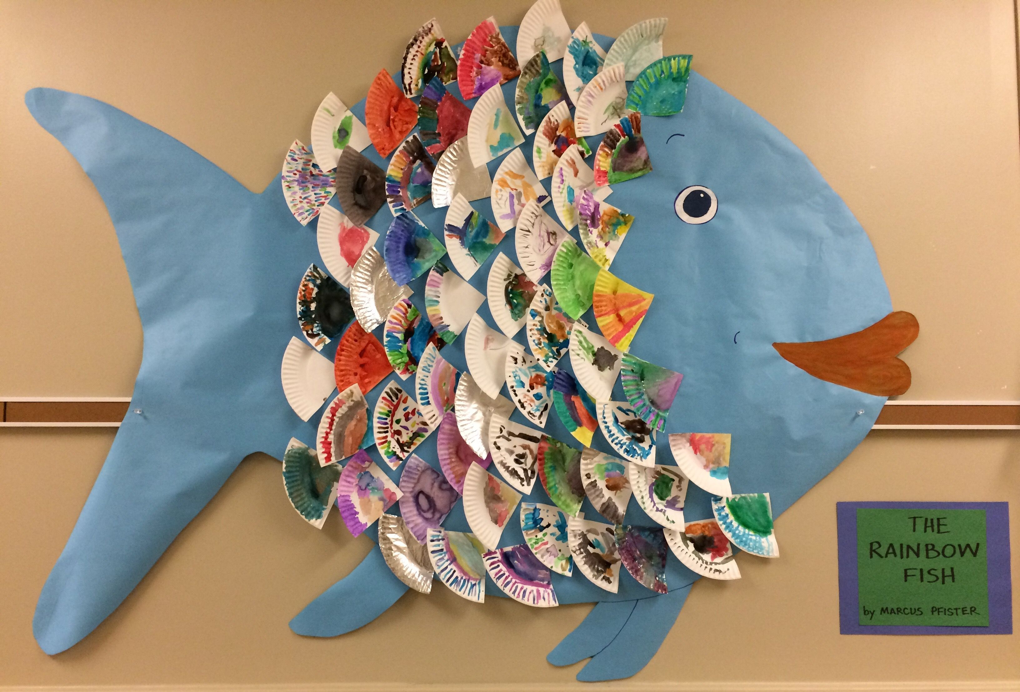 Class Rainbow Fish Made Using Paper Plates The Students Used Watercolor To Decorate The Plate