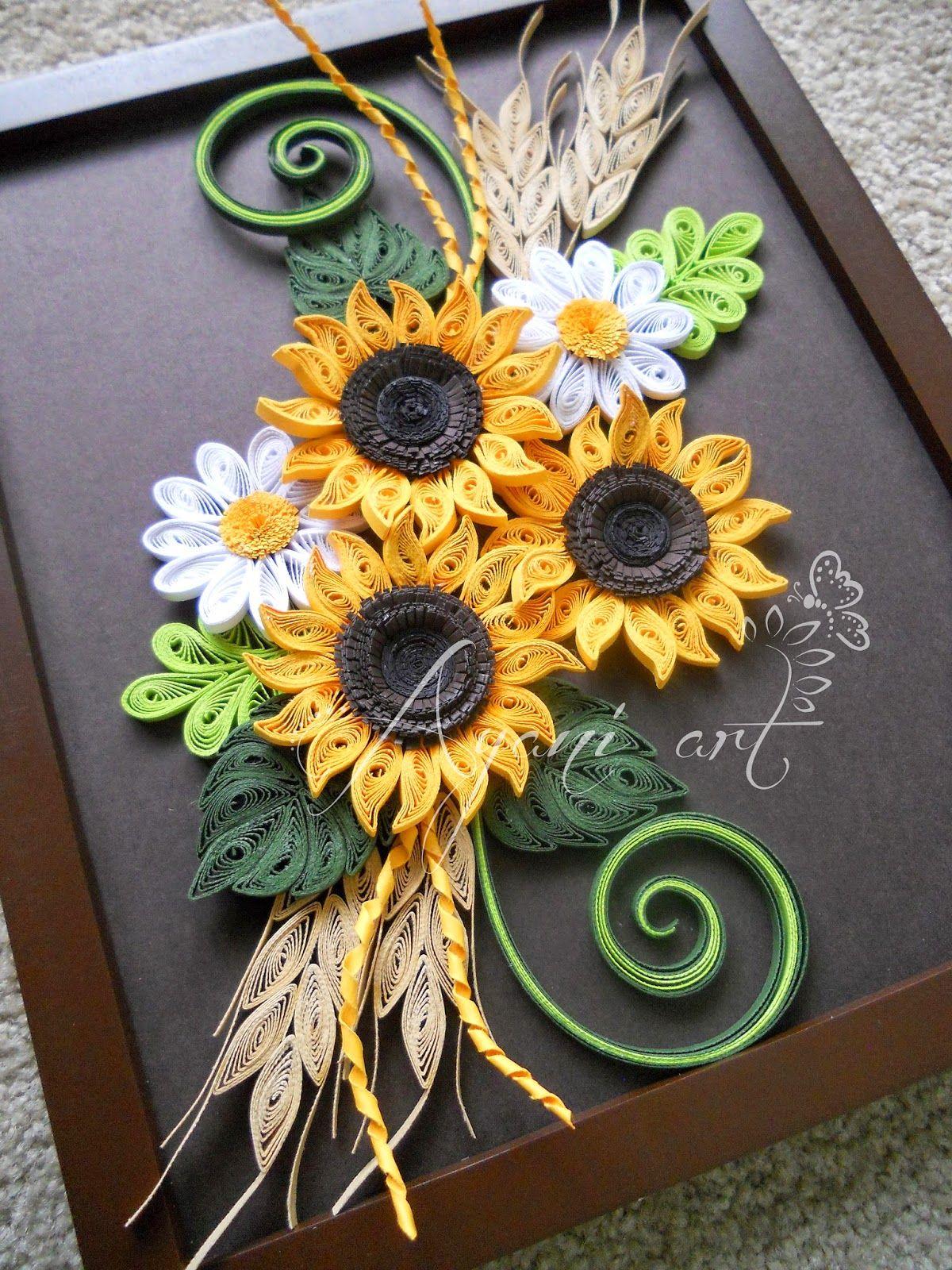 Quilling Paper Art Flower Designs