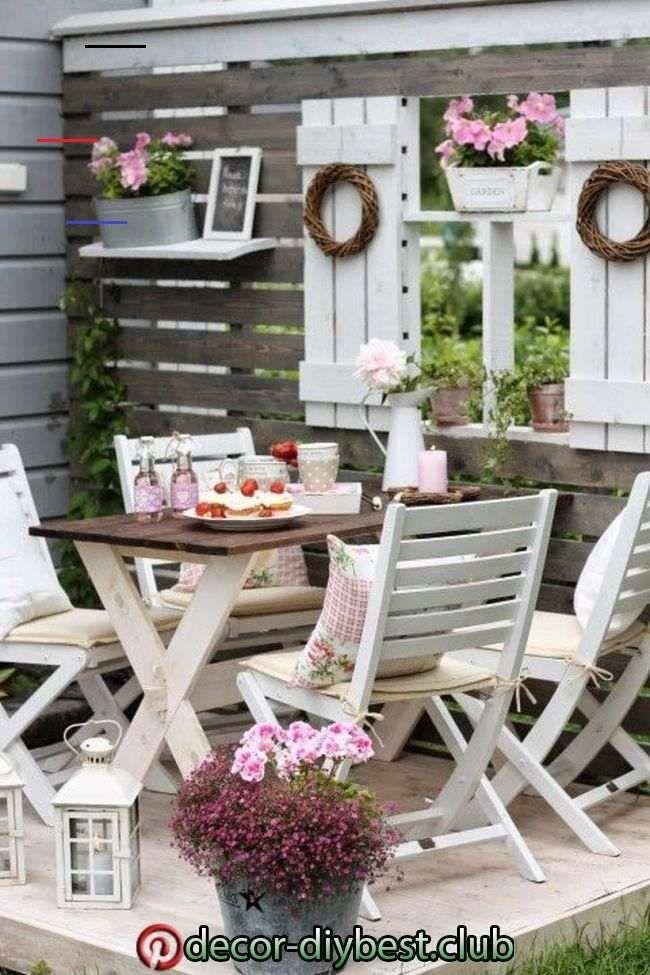 Photo of 45 Genial Small terrace on Budget Design Ideas | Shabby chic garden decor, shabby chic patio,