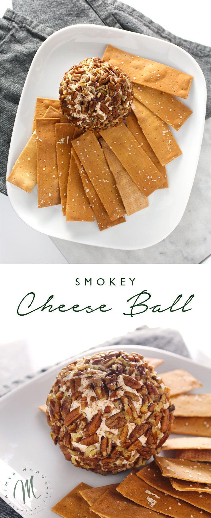 Smoked Cheese Ball #charlestoncheesedips