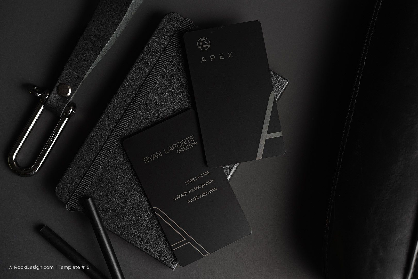 Modern simple vertical laser engraved black metal business card use a laser engraved black metal rockdesign template to expand your brand our creative visiting cards are the perfect original cards reheart Image collections