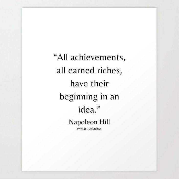17 | Napoleon Hill Quotes| 210104| Success Business Inspiring Manifesting Affirmation Motivational Art Print by Wordz