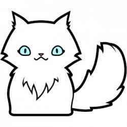 How To Draw Cats Cute Cartoon Cats For Kids To Draw Clipart
