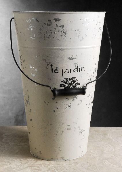 Le jardin white 18in flower market buckets w handles 36 each 3 18 le jardin white french flower market buckets with handle mightylinksfo Gallery