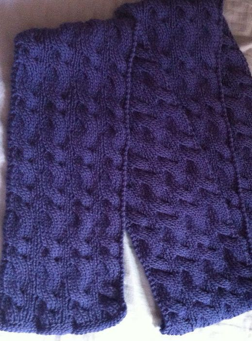 Free Knitting Pattern for Reversible Rivulet Scarf - An all-over ...