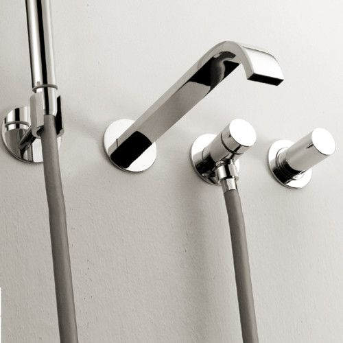 Lacava Arch Wall Mount Tub Faucet With Hand Shower Modern Bathroom