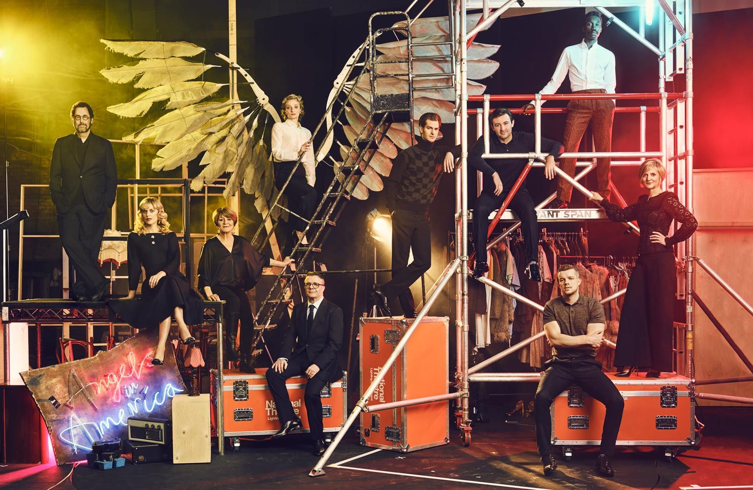 Cast Of Angels In America With Images Set Design Theatre