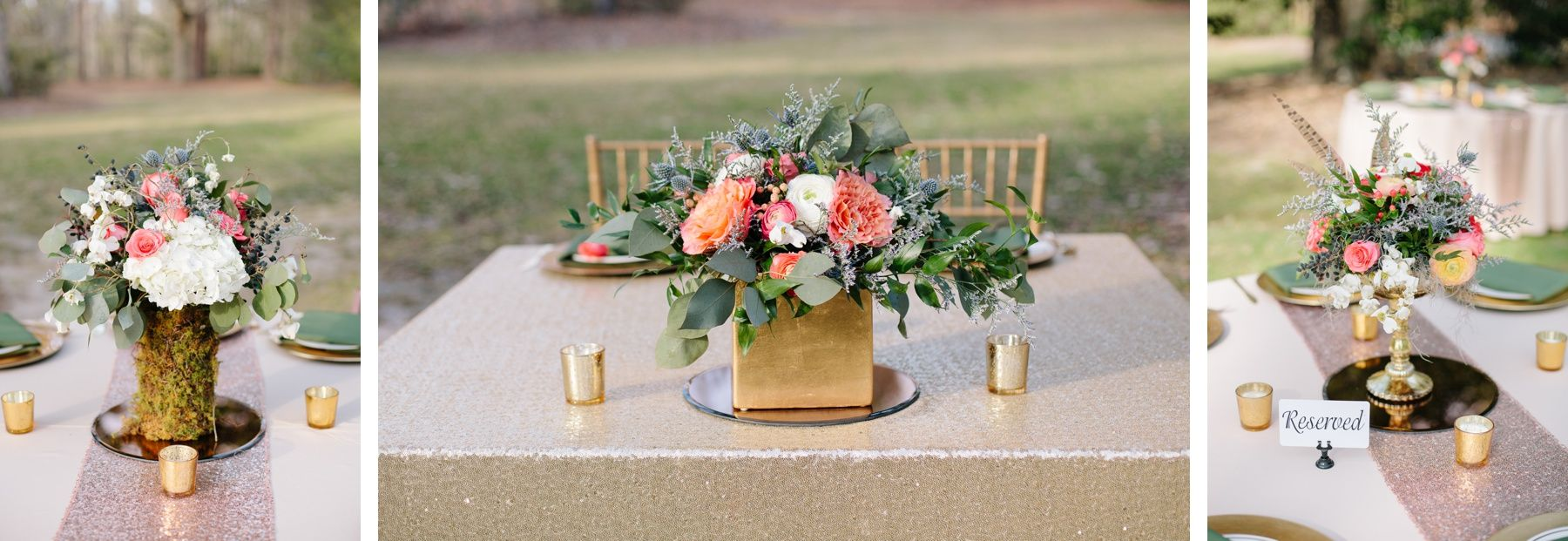 Absolutely Stunning Colorful Ranunculus Peony And Feather Centerpieces Givhans Ferry State Park Wedding