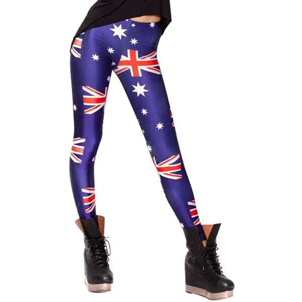 Chicnova Fashion Union Flag Printed Leggings (9.70 AUD) ❤ liked on Polyvore featuring pants, leggings, white high waisted leggings, high waisted trousers, white trousers, high waist stretch pants and white high waisted trousers