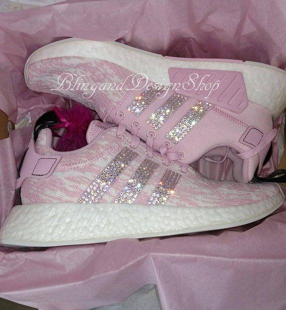 f4cce61913af3 Swarovski Bling Adidas Shoes Women s Adidas NMD R2 Originals Custom ...