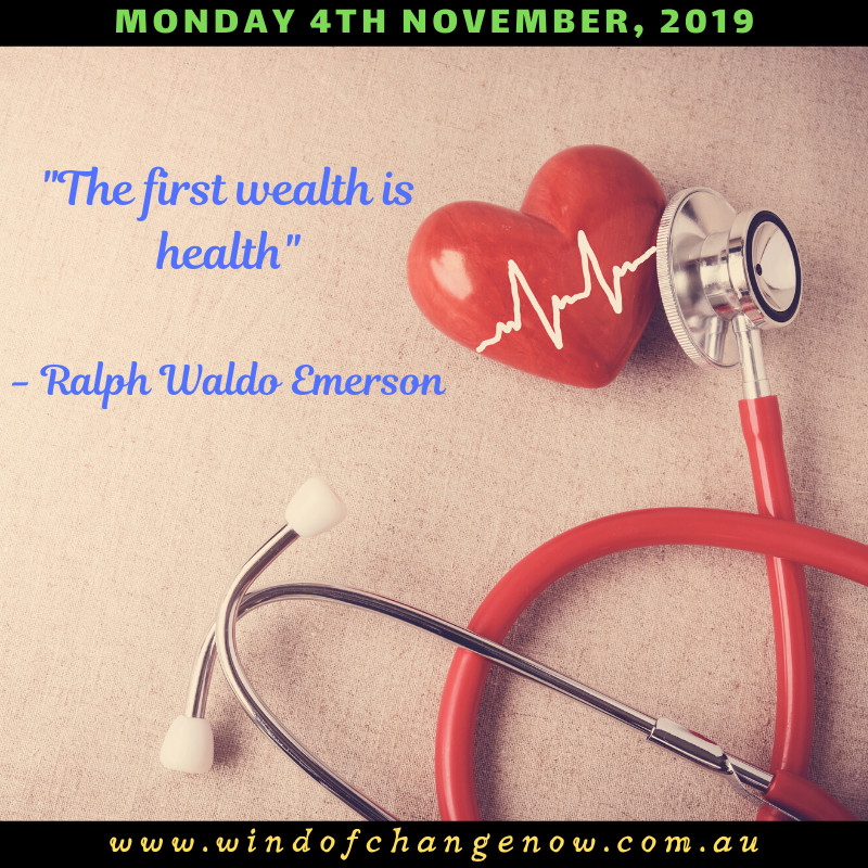 quotThe first wealth is health quot  Ralph Waldo Emerson