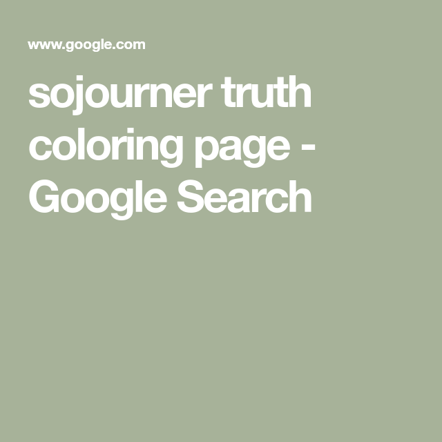 sojourner truth coloring page google search kids school