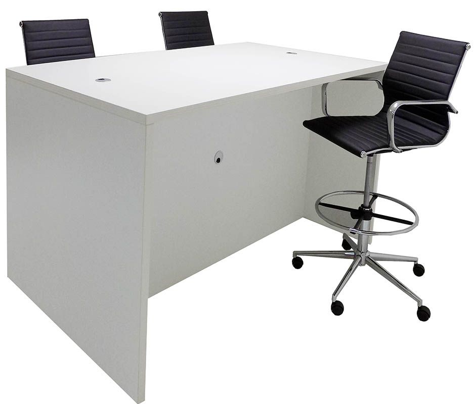 Team Collaborative Standing Height Meeting Table In White The - Standing height meeting table