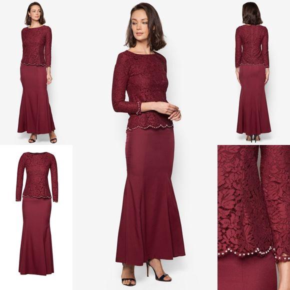 Baju Kurung Moden Lace Minimalis Raya 2016 Fesyen Trend Terkini