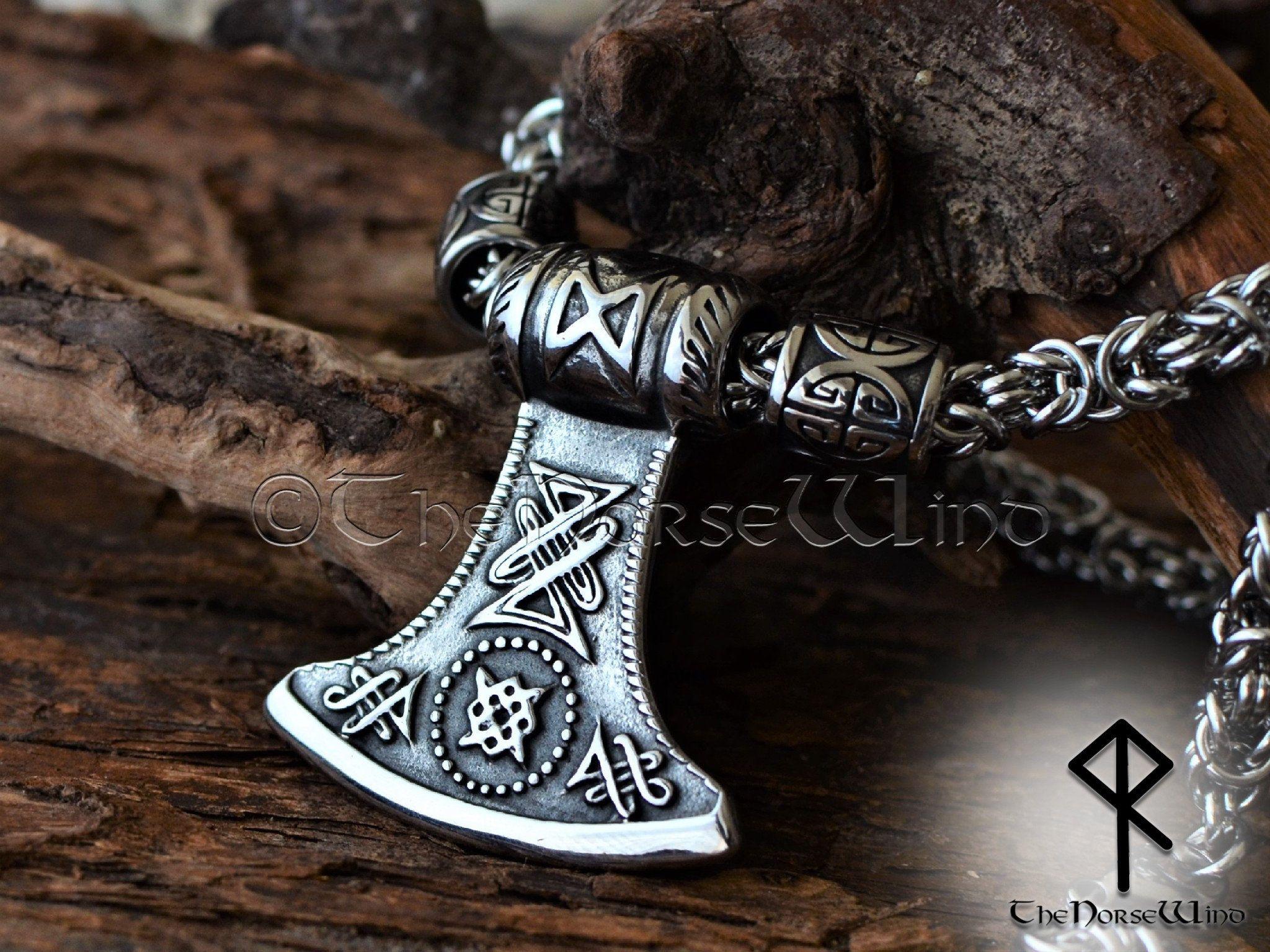 Thor hammer necklace norse asatru amulets viking jewelry