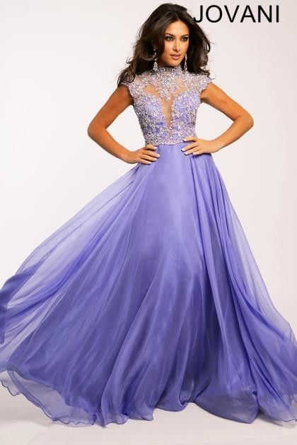 39954c60aae5 Channel timeless grace in this full-length lavender evening gown. Flowing  A-line skirt with layers of purple meets a royal top. Plunging sweetheart  neckline ...