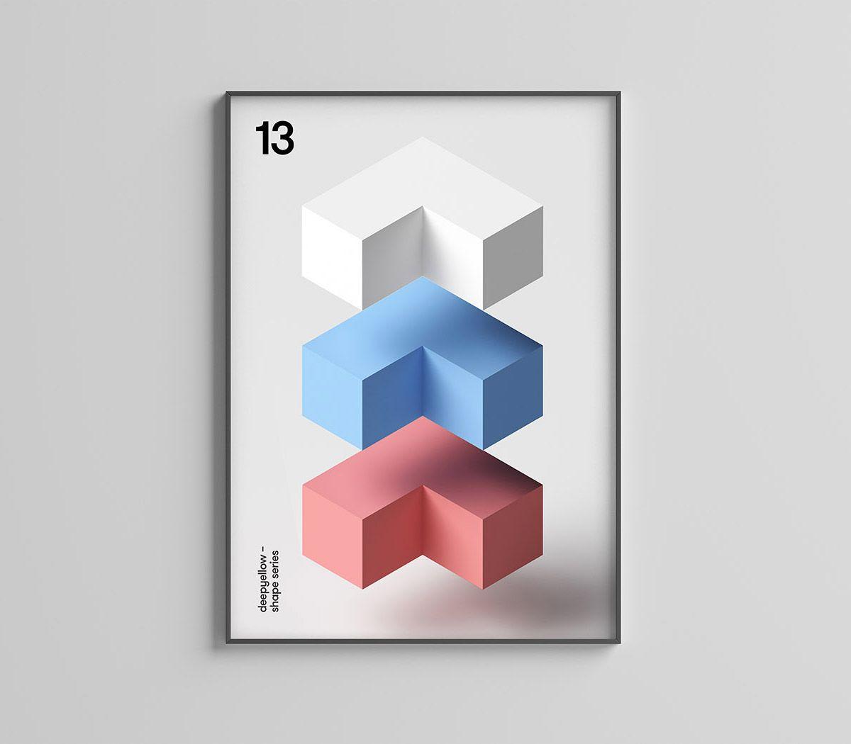 Minimalist Geometric Posters By Deepyellow Geometric