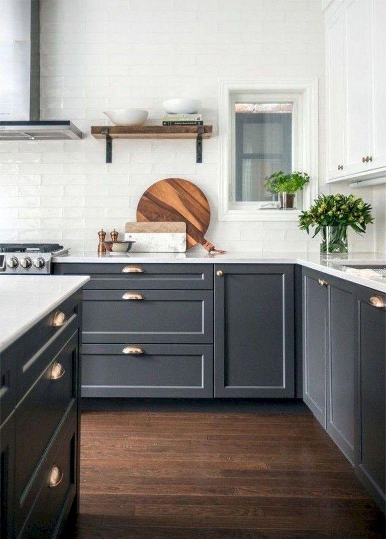 63 Marvelous Modern Farmhouse Kitchen Cabinet And Countertops Ideas Grey Kitchen Designs Kitchen Cabinets And Countertops Kitchen Remodel