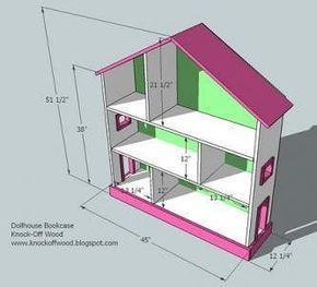 Dollhouse Bookcase | Doll house plans, Dollhouse bookcase ...