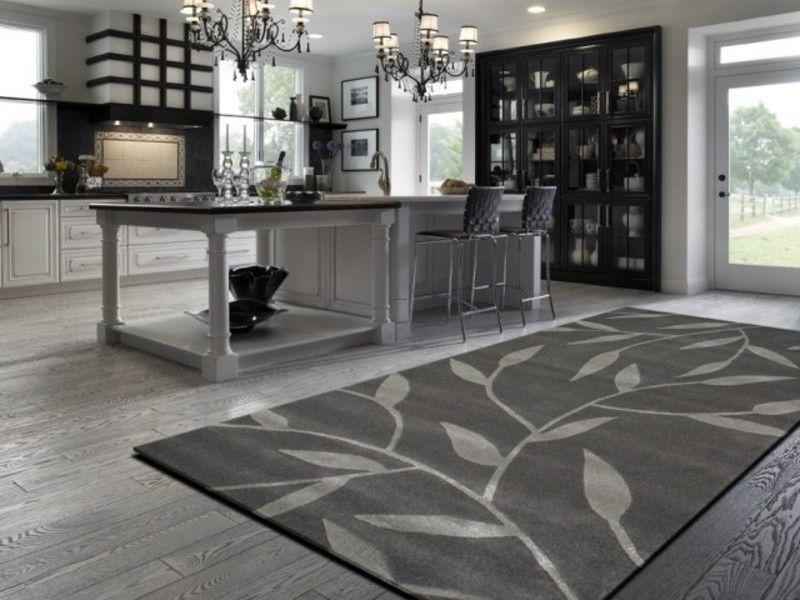 Rugs In A White Kitchen | Contemporary Kitchen Rugs, Vineworx Rug In A  Contemporary Kitchen · Kitchen RugKitchen FloorsWood ...