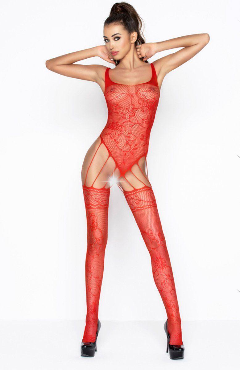 3fc4886bb99605 Passion BS034 bodystocking czerwone - Bielizna erotyczna bodystocking -  Bielizna damska Passion - Sklep z bielizną Intimiti.pl