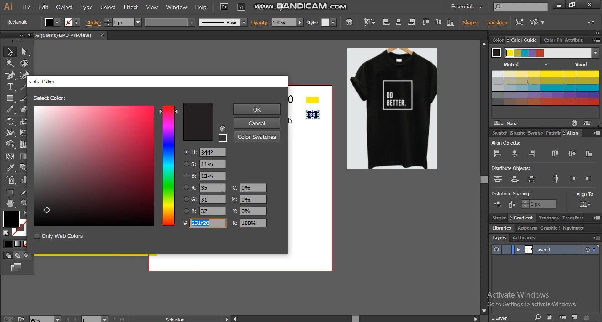 color code for spec sheet
