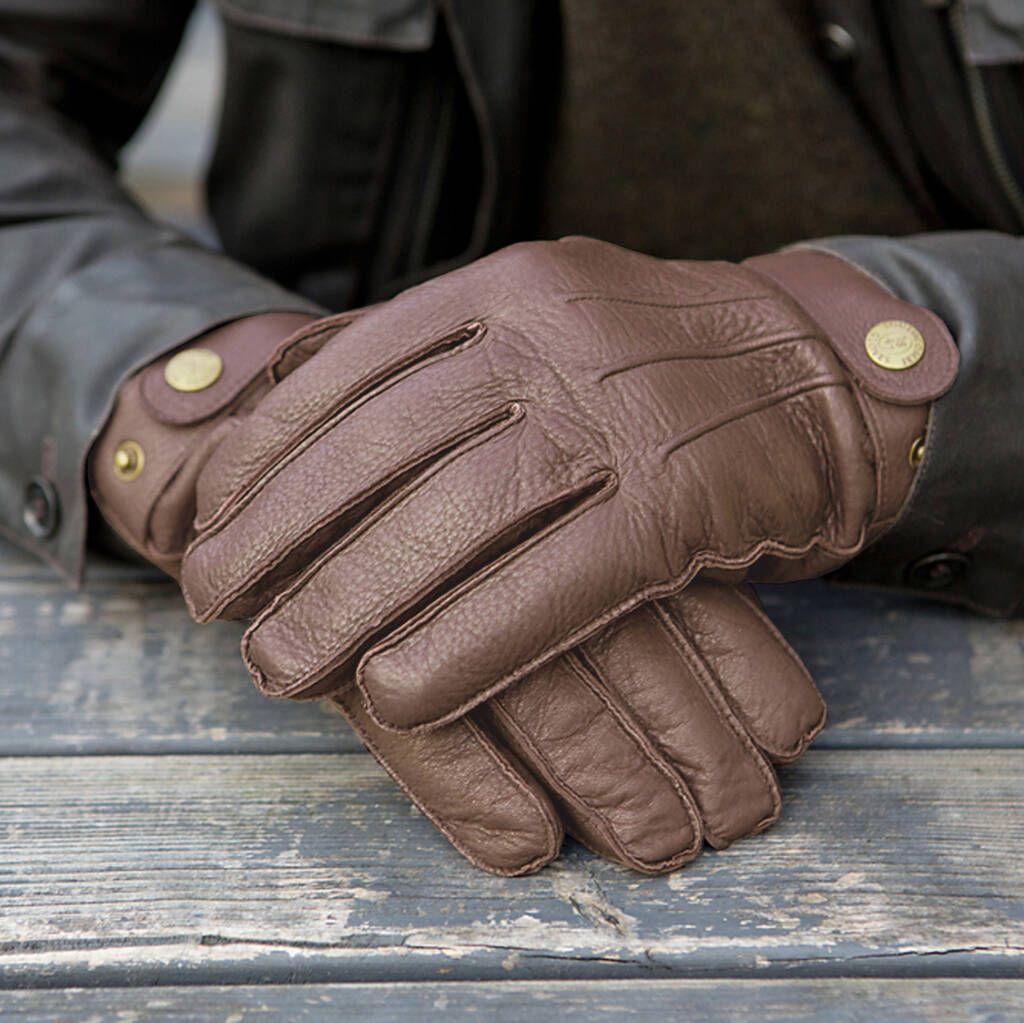 Reeves. Men's Cashmere Lined Deerskin Gloves in 2020