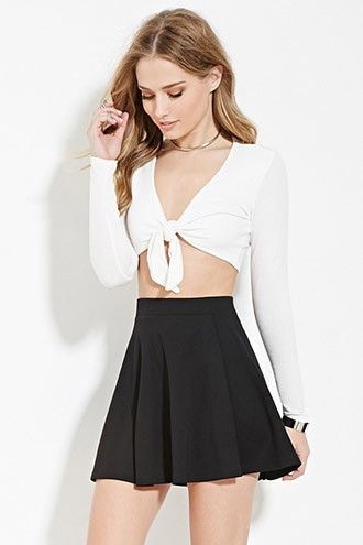 Pleated Mini Skater Skirt  e20659c90