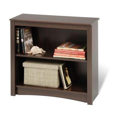 Prepac Espresso Open Bookcase Edl 3229 With Images 2 Shelf Bookcase Shelves Prepac