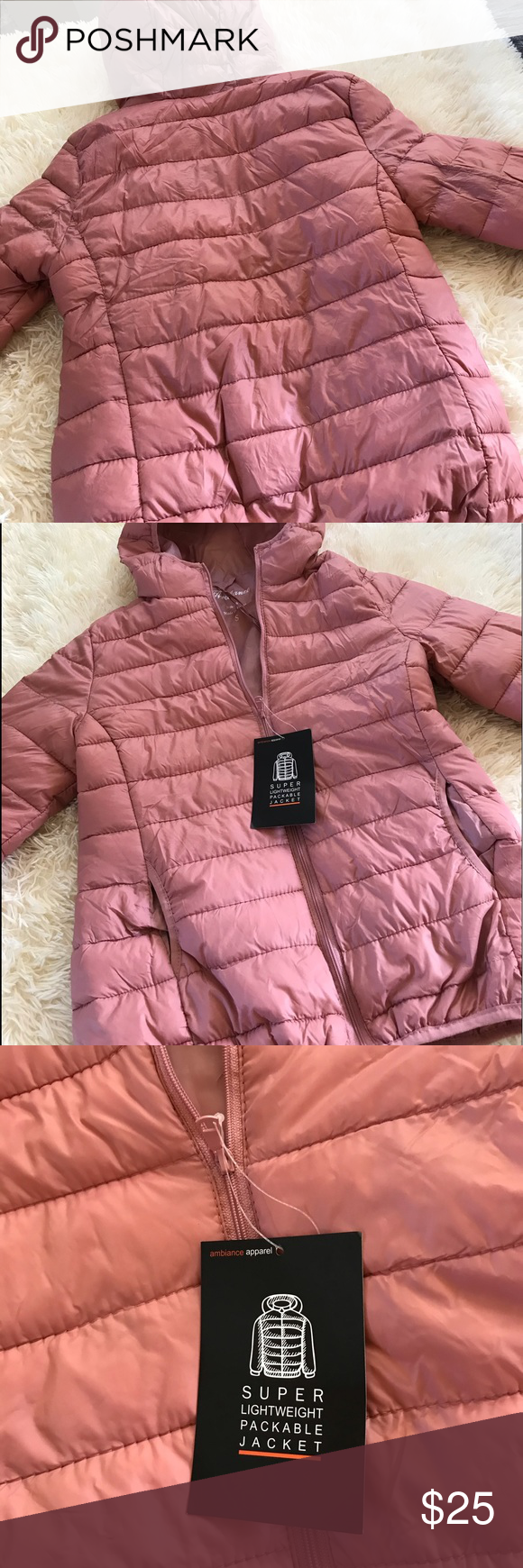 Ambiance Woman S Quilted Puffer Jacket Quilted Puffer Jacket Jackets Packable Jacket [ 1740 x 580 Pixel ]