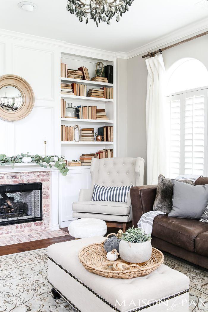 superb living room in home attic design | Fall into Home Tour | Living room grey, Attic bedroom ...