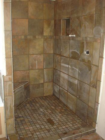 Tile Bathroom Showers Pictures | Bathroom Shower Tile Renovation Schluter  Kerdi Waterproofing Tampa .