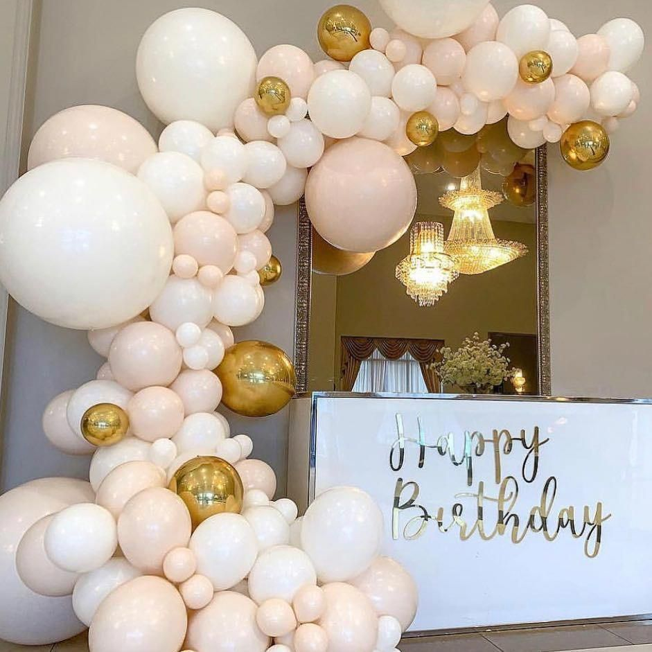 The Event Collective On Instagram Loving These Blush Tones Theeventcollectivex Ba Birthday Balloon Decorations Balloon Garland Pastel Birthday Decor