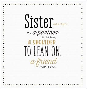 Sister Partner In Crime Card Funky Pigeon Special Sister
