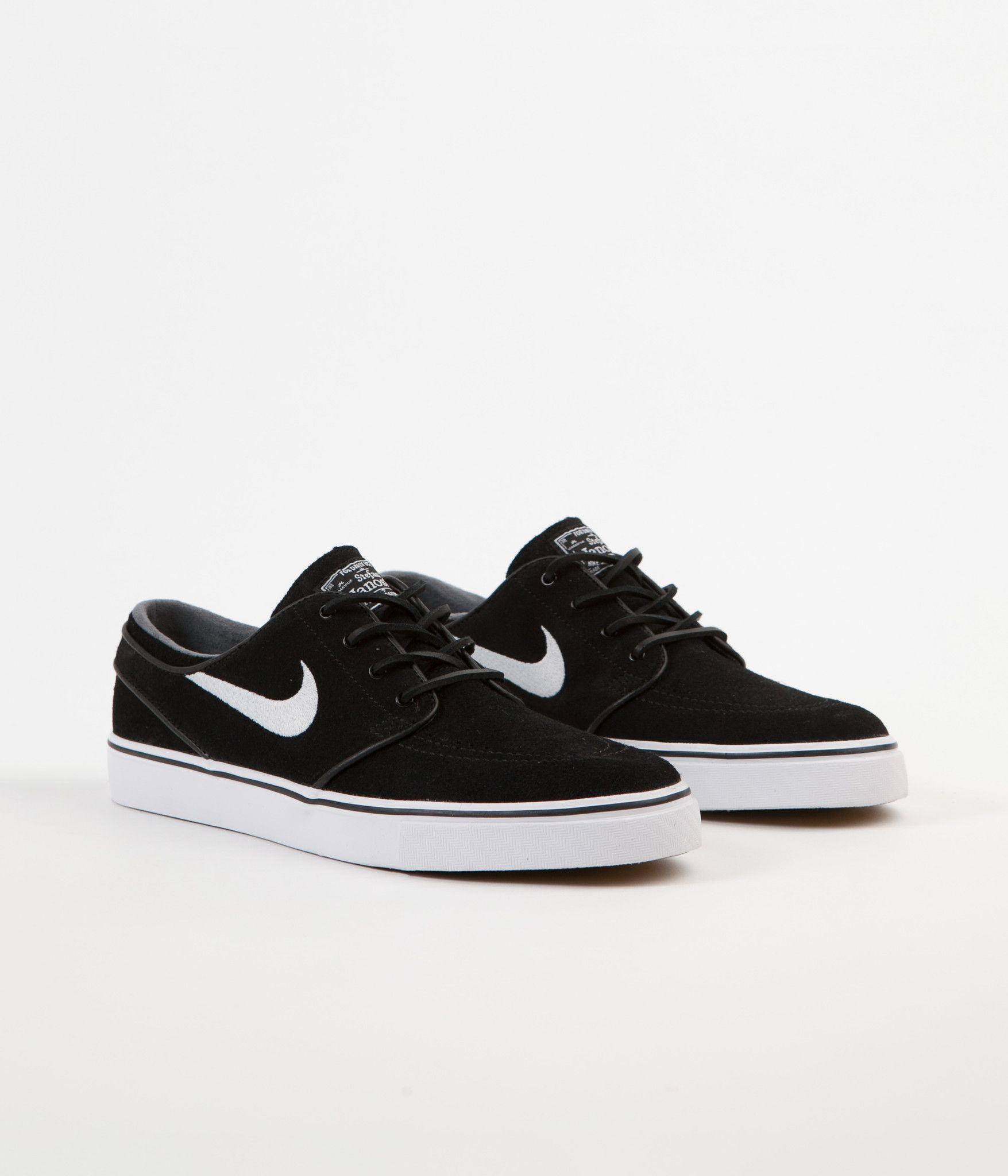 4bc06574d2d9f Nike SB Stefan Janoski OG Shoes - Black   White - Gum Light Brown ...