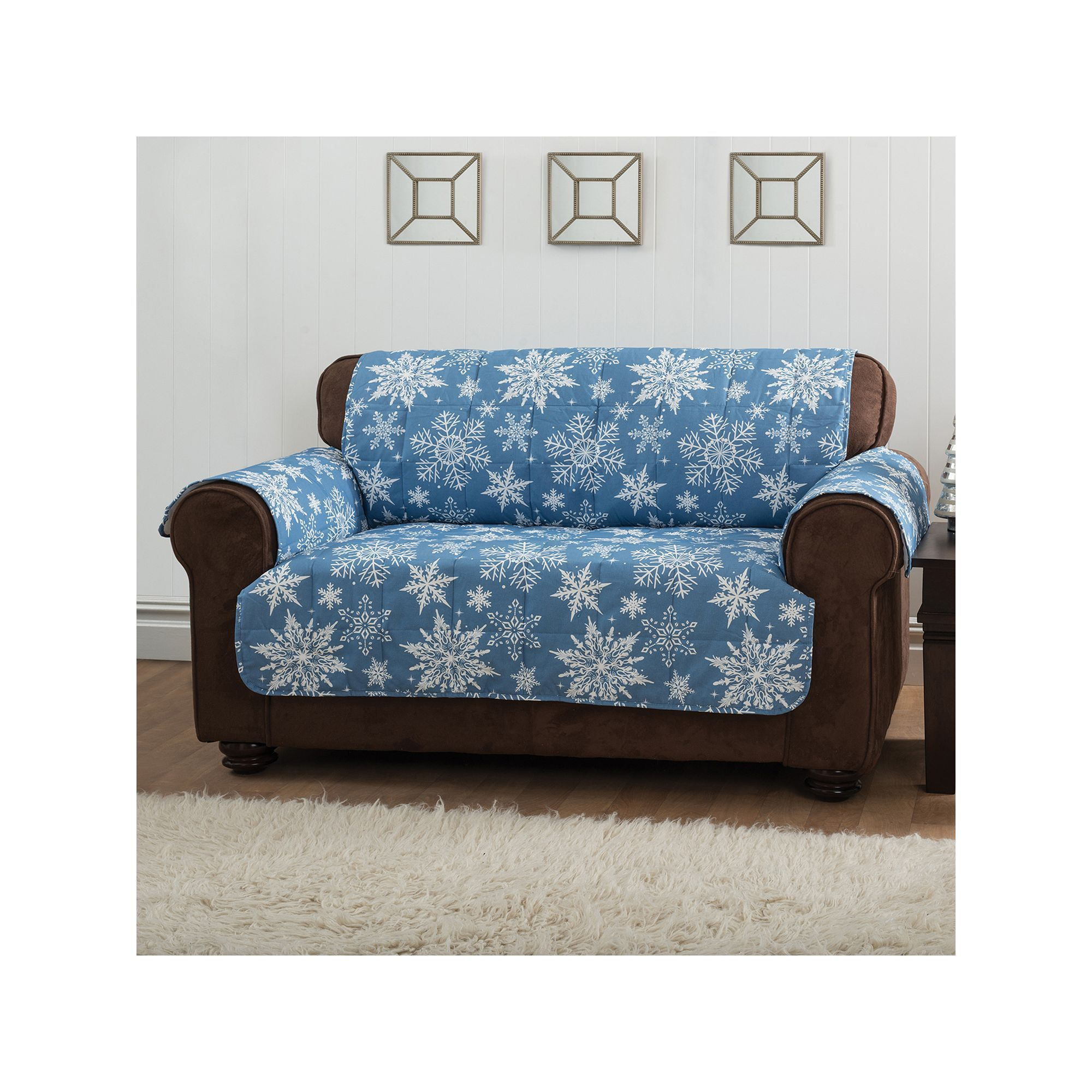 Innovative Sofas innovative textile solutions snowflake sofa protector, blue