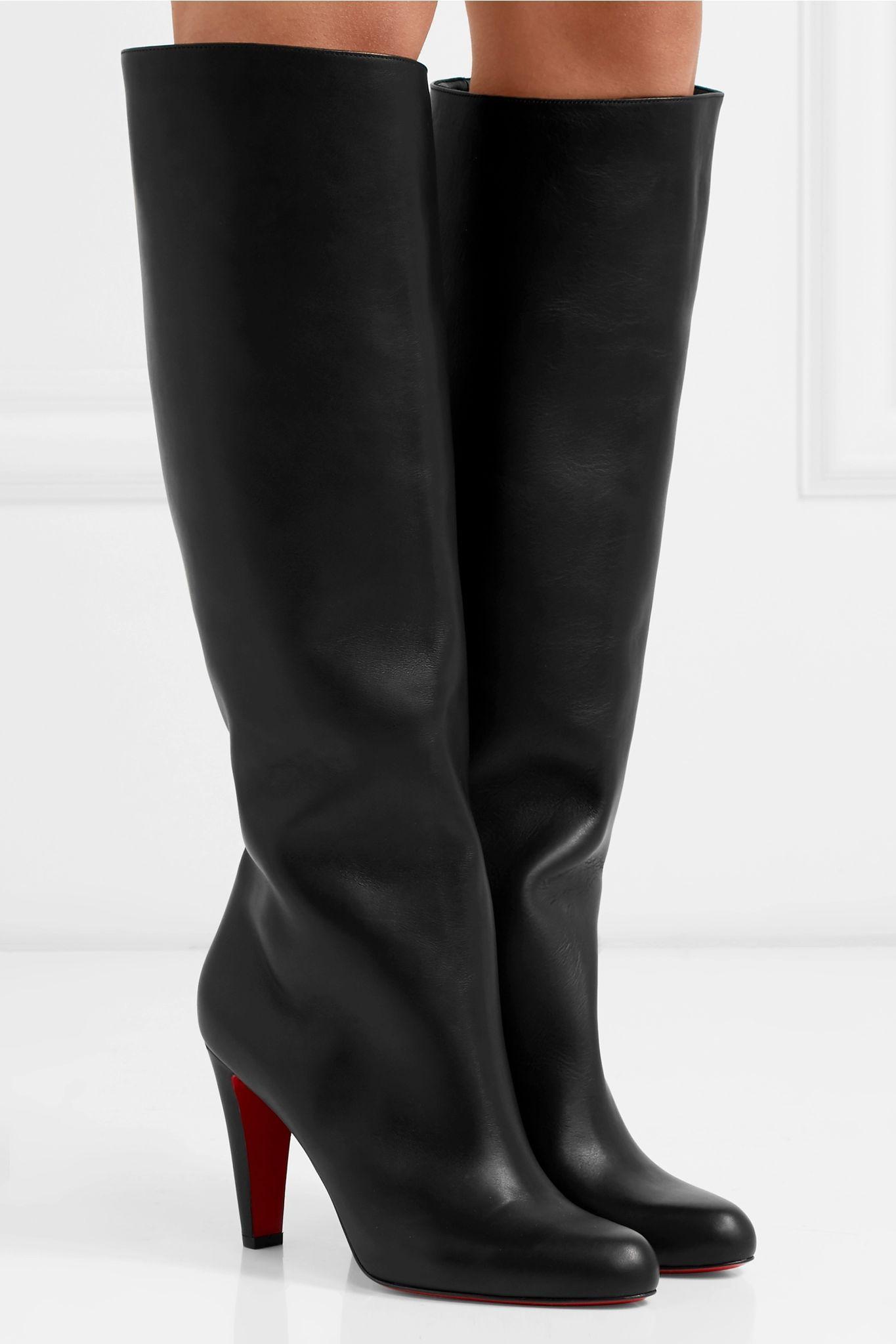 Black Marmara 85 leather knee boots
