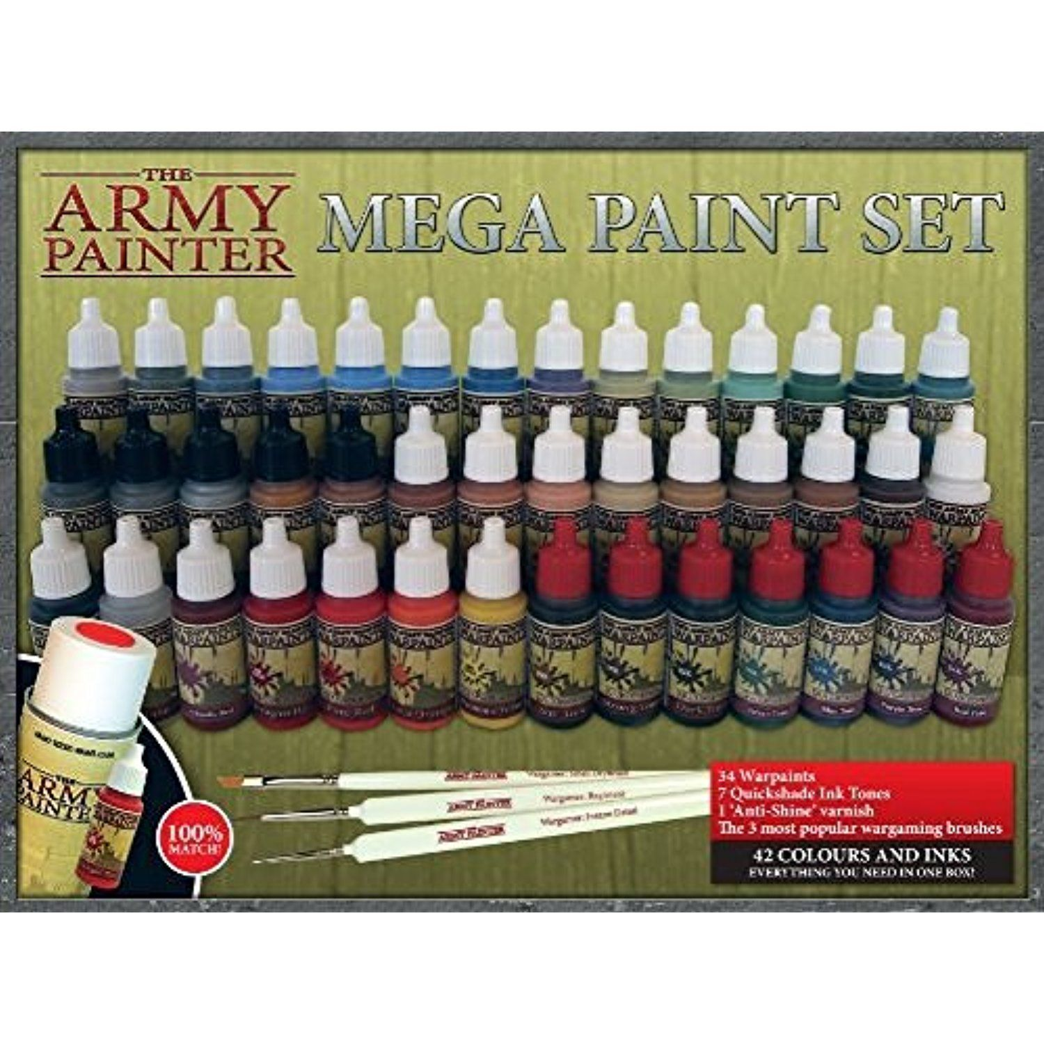 The Army Painter Miniature Painting Kit Mega Paint Set Ii Check This Awesome Product By Going To The Link Paint Set Miniature Painting Miniature Paint Set